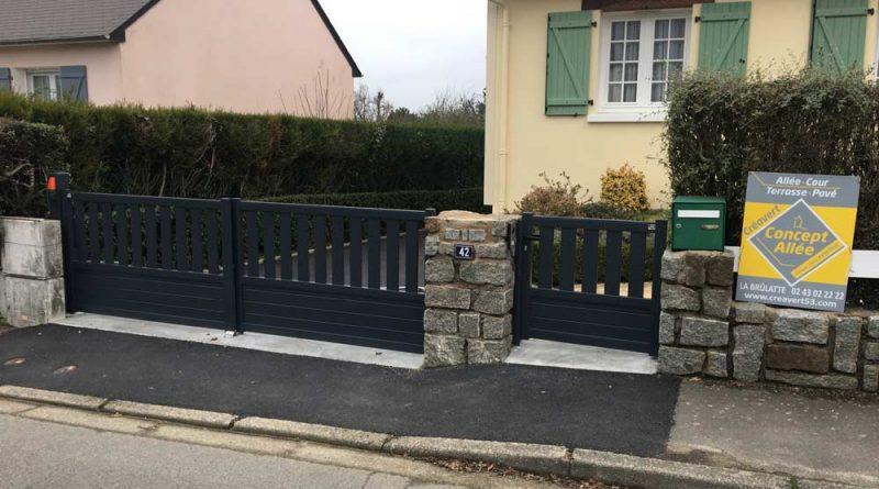 Installation d'un portail en aluminium à Laval